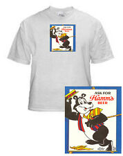 HAMM'S BREWING DANCING BEAR BEER T SHIRT SMALL-XXXLARGE (F)