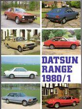 Datsun Nissan 1980-81 UK Market Brochure Cherry Sunny Violet Bluebird Skyline