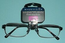 Foster Grant Magnivision Hyperflexx Blk 1/2 Metal Frame Reading Glasses +2.50 58