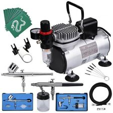 AS18-2S Airbrush Compressor Kit Paint Spray Gun Air Brush Nail Tattoo INCD VAT