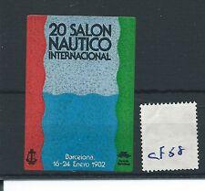 Cartel de leucocitos. - Cenicienta/- CF58-Europa - 20 Salón Nautico Int. Barcelona -1982