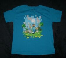 MINECRAFT MOJANG BOYS YOUTH MEDIUM 10 12 JINX GRAPHIC T SHIRT SHORT SLEEVE BLUE