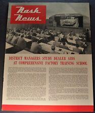 1950-1951 Nash News Brochure Ambassador Rambler Excellent Original