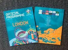More details for england v czech republic euro 2020 uefa tournament programme - london version!!