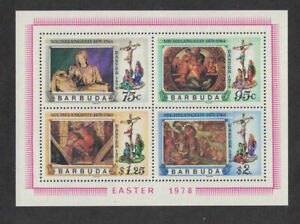 Barbuda 1978: #331a Easter SS NH; Religion, Paintings:Lot#9/26