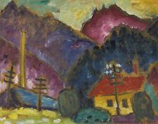 Jawlensky von Alexej Small Landscape With Telegraph Masts Canvas 16 x 20 #7446