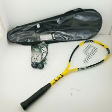 Prince Force 3 F3 Energy Squash Racquet 188 Grams Bundle w/ Goggles & Balls