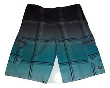 OCEAN CURRENT Boys Gray/Green Board Shorts Size 16