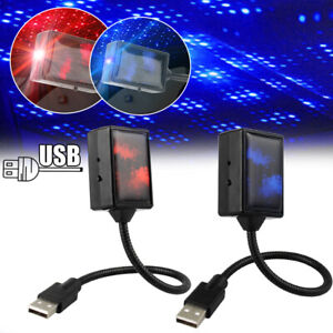 Car Interior LED Roof Atmosphere Starry Sky Lamp Star Projector Night Light USB