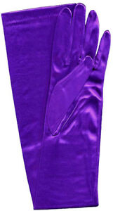 "23"" Long Stretch Satin Bridal Wedding Prom Dress Halloween Costume Opera Gloves"
