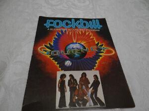 ROCKBILL JOURNEY CONCERT 1979 Program Tour Guide Budweiser