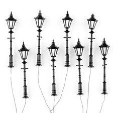 8pcs Antique Street Lights G Scale 1:25 Model Railway LED Lamppost Lamps 9.5cm