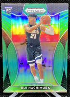 RUI HACHIMURA 2019 PANINI PRIZM DRAFT PICKS GREEN PRIZM ROOKIE CARD #73