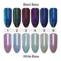 Holographic Nail Art Powder Dust Chameleon Glitter Mirror Nailart Chrome Pigment