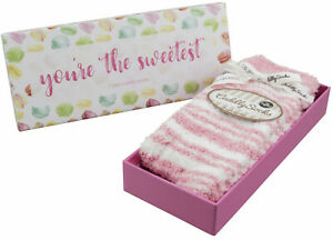 Ladies Womens Gift Fluffy Socks in a Box 'You're the Sweetest' Taubert Socks