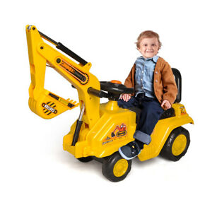 Lenoxx Ride On Excavator Kids/Children Outdoor Tractor Push/Kick Toy w/Lever 3y+