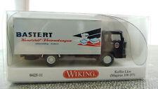 Wiking 042501 1:87 H0 Koffer LKW Magirus 100 D7 Bastert Verpackungen NEU in OVP
