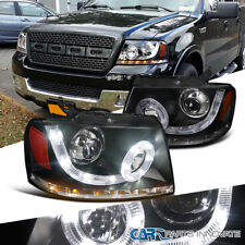 04-08 F150 06-08 Mark LT Black SMD LED Halo Projector Headlights w/ LED Signal