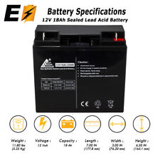 12V 18Ah Sealed Lead Acid Scooter Battery D5745 40648 WP18-12 6FM18