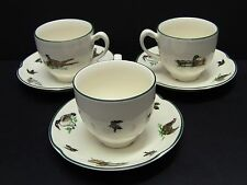 Johnson Brothers Brookshire Wild Game Birds Cups and Saucers / Set of 3 / Unused