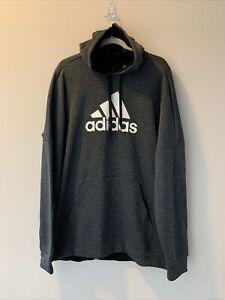 NWT Adidas Mens Sweatshirt Size XLT TI FLC Pullover Logo Hoodie Climawarm New