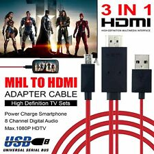 MHL Micro USB to HDMI 1080P HD AV TV HDTV Cable Adapter 2M Android Samsung Phone