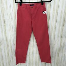 Polo Ralph Lauren Boys Nantucket Red Flat Front Chino Pants Size 12