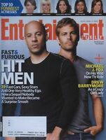 PAUL WALKER & VIN DIESEL April 2009 ENTERTAINMENT WEEKLY Magazine DREW BARRYMORE