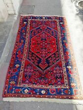 Très beau  tapis ancien fait main en laine XXème ( 218x128 )cm