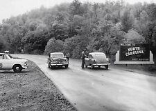 1954 North Carolina State Line Police Check Point 8 x 10 Photograph
