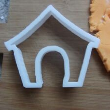 Doghouse Shape Cookie Cutter Biscuit Pastry Fondant Stencil Dog Home AL13