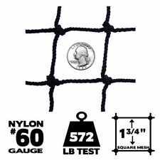 Netting - 25' x 50', #60 Gauge, Baseball / Softball Panel Net (Choose Border)