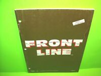 Taito FRONT LINE Original 1982 Video Arcade Game Service  Manual With Schematics