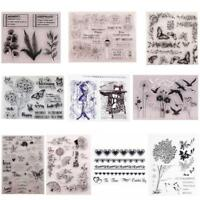 DIY Transparent Silikon Clear Stamp Cling Siegel Sammelalbum Prägung Stil