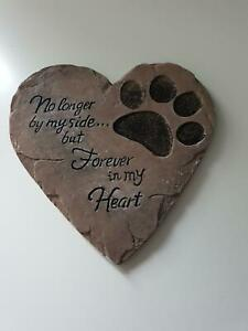Heart Shaped Latex Mould To Make Pet Memorial Plaque, Cat or Dog Ornament, Hobby