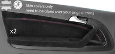 PINK STITCH 2X FRONT DOOR CARD TRIM SUEDE COVERS FOR AUDI A3 8P 04-12 3 DOOR
