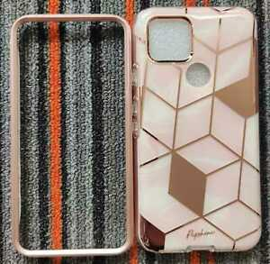 POPSHINE MARBLE GOOGLE PIXEL 5 FULL BODY PROTECTIVE CASE (LIQUID MARBLE PINK) D2