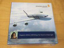 Original Boxed SIA Singapore Airlines Airbus A380 Die Cast Display Stand 1:400