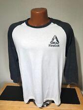 Mens Reebok Crossfit 3/4 Sleeve Athletic T-Shirt Size Medium (M) White / Gray