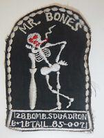 MR BONES - Rare Patch - US AIR FORCE - 128th BOMB SQUADRON - Vietnam War - L