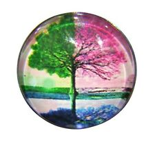 Noosa Style Chunk Chunks Ginger Snap Button Jewellery Charms Green Tree 18mm 03
