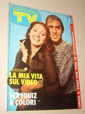 TV SORRISI CANZONI=1974/47=CELENTANO=PINO COLIZZI=JOHNNY SAX=WESS DORI GHEZZI=