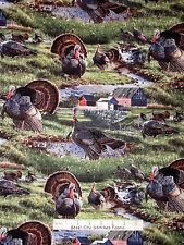 Turkey Animal Fabric - Farm Bird Scenic CP59989 Wild Fancy Wild Wings - Yard