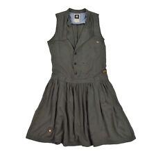 G Star Raw señora vestido XS 34 Laundry Trench dress 100% viscosa rock vestido de verano