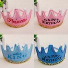 Prince Princess Crown Birthday Party Hats LED Light up Cap Kids Children Adult