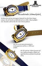 OVALE Jacques Lemans Orologio da donna in 18 CARATO vergoldt 10 micron