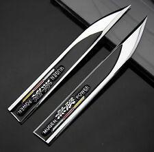 2pcs 3D Metall Auto Fenders Schriftzug Aufkleber Emblem für Dolch Schwarz MUGEN