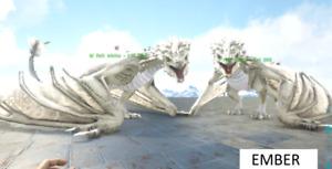 ARK XBOX PVE WHITE EMBER CRYSTAL WYVERN PAIR!