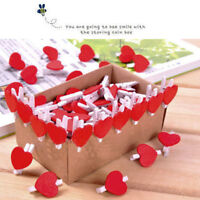20Pcs Mini Cute Heart Wooden Pegs Photo Clips Room Wedding Craft Xmas Decor*NJ