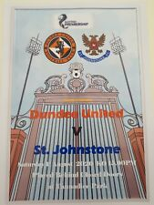 2020/21 Dundee United v St. Johnstone 01/08/20 A4 Glossy Teamsheet *Pirate Issue